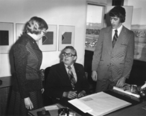 3 people in office, early credit union days from 1973
